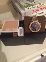 Michael Kors Parker Two Tone Rose Accent Watch