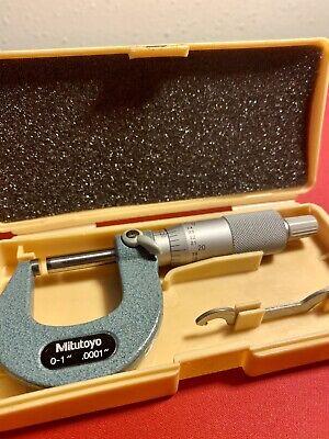 Mitutoyo 0-1 Inch Micrometer No 103-260 - Carbide Faces - .0001 Inch Graduations