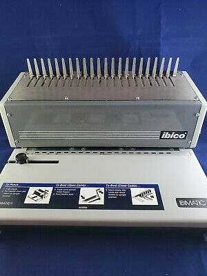 Ibico Ibimatic Manual Combing Binding Machine W Catch Tray And Plastic Combs