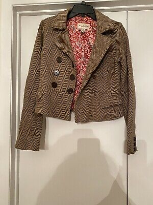 Abercrombie & Fitch Women's Size M Wool Blend Button Front Short Jacket  Button Front Short Jacket