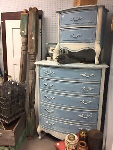 French Provincial Dresser and Side Table