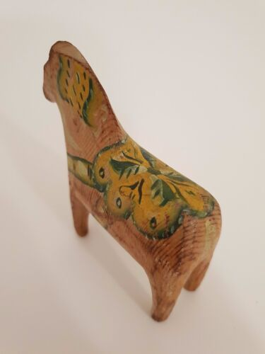"Antique Swedish Hand Made Dala Horse from early 1900´s 3,9"" high"