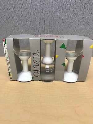 Bodum Oktett White Wine Glass White 80s Vintage Glasses Set Of 3 Plastic Stem](Plastic Stem Wine Glasses)
