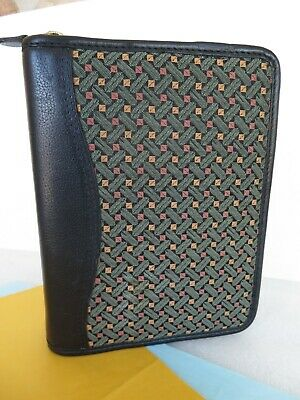 Compact 1.25-ring Leather Tapestry Planner Binder Insert Fits Franklin Covey