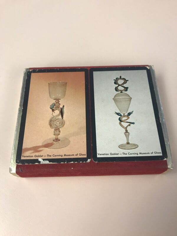 Venetian Art Glass Playing Card Set Corning Museum Of Glass Vintage 2 Decks