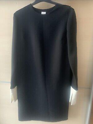 IRIS & INK Dark Blue Chic Long Sleeve Knee Length Shift Dress Size UK 8