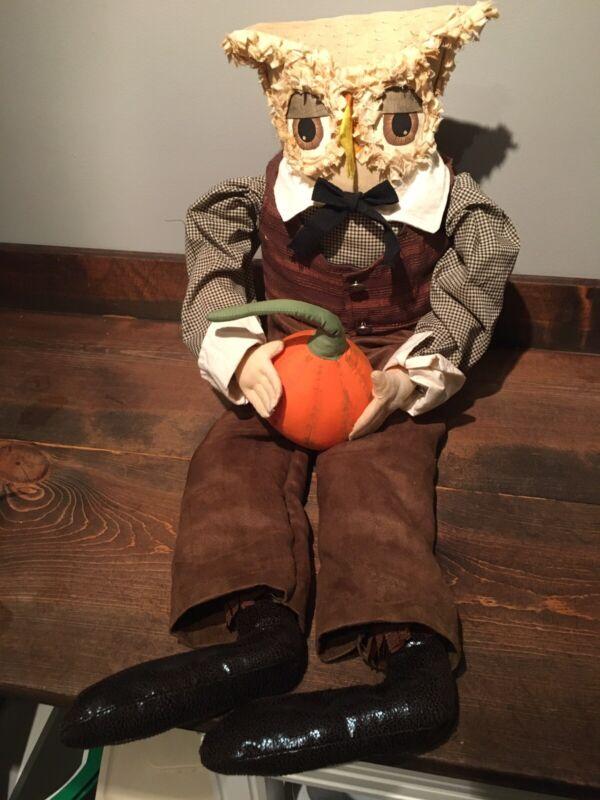 "Joe  Spencer Gathered Traditions Halloween TOBIAS OWL 30"""