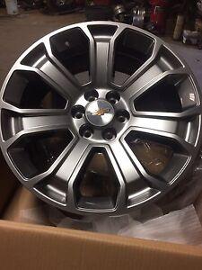2017 GM 22 inch Gray on Gray Alloy wheels