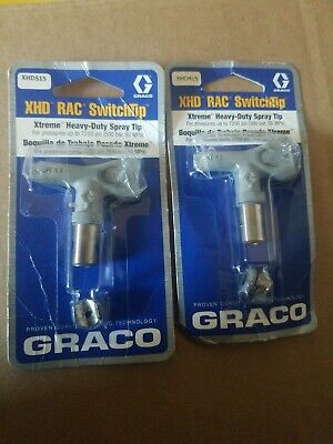2 Pack Graco Heavy Duty Spray Tips Xhd515 And Xhd415