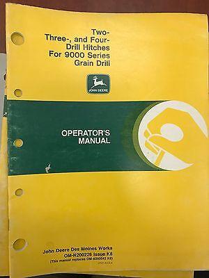 John Deere Op Man. 2 3 4 Drill Hitches-9000 Grain Drill Omn200226 Used