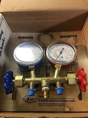 2-way Side-wheel Manifold Gauge Set Robinair 40197 New Old Stock