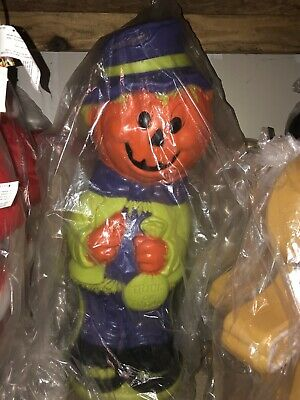 "New Halloween 36"" Pumpkin Scarecrow Blow Mold"
