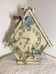 WESTCLOX Birdhouse Quartz Clock (Resin)