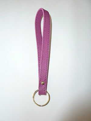 BAGGU LEATHER LOOP KEYCHAIN KEY RING FUSCHIA NWOT