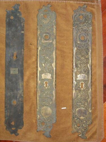 Antique RHCo Belfort Door Knob Backplates