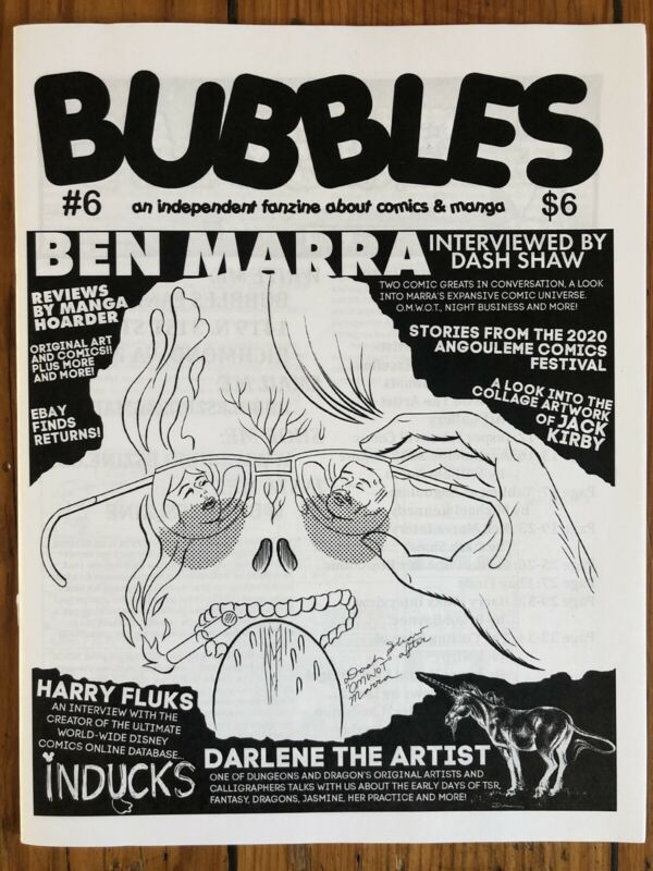 BUBBLES Zine #6 Dash Shaw, Ben Marra (mini-comic) WWMBY Review, Kirby Collages