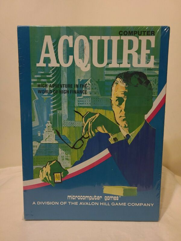 NEW VTG 1981 COMPUTER ACQUIRE CASSETTE STRATEGY GAME AVALON HILL FACTORY SEALED