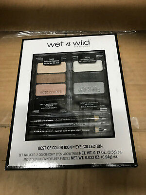Wet 'n Wild Best of Color Icon Eye Collection Gift Set, 2 Eyeshadow + 2 (Best Neutral Eyeshadow Palette)