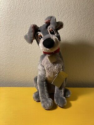 """Disney Tramp Plush- Lady and the Tramp Medium 16"""" Toy Doll- New With Tags"""