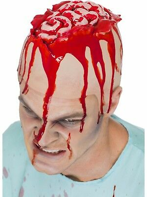 Halloween Zombie Open Brain Cracked Open Head Latex Head Cap Fancy Dress Make Up - Cracked Halloween Makeup