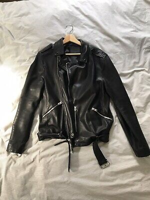 All Saints Mens Lamb Leather Jacket size S