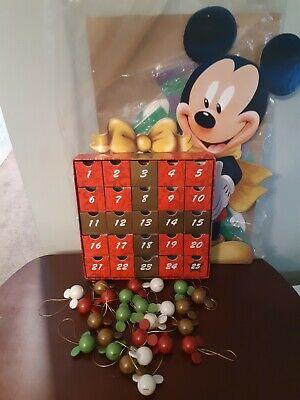 Disney Mickey Mouse Cardboard Advent Calendar With 25 Mini Ornaments Countdown
