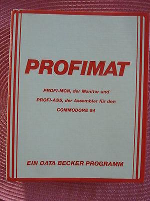 Gebraucht, Commodore C64 Profimat Data Becker - Assembler PROFI-ASS und Monitor PROFI-MON gebraucht kaufen  Eggenstein-Leopoldshafen