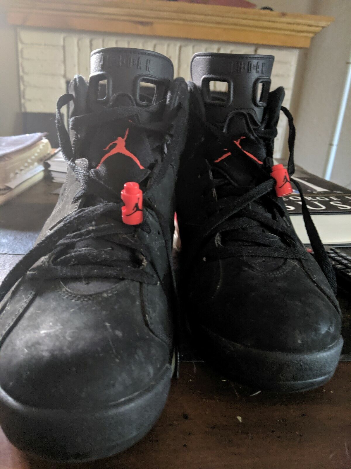size 12 Jordan VI 6 Olympic Team stealth black well taken care of; original box