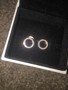 Real PANDORA Rose Gold Earrings Kellyville The Hills District Preview
