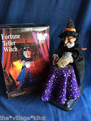 Vintage Halloween Factory Motion-ette Fortune Telling Witch Animated Figure Work