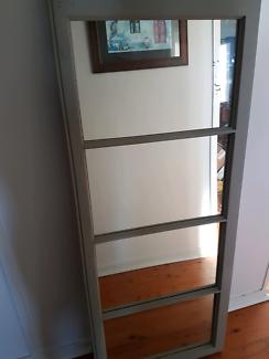 Large timber frame mirror