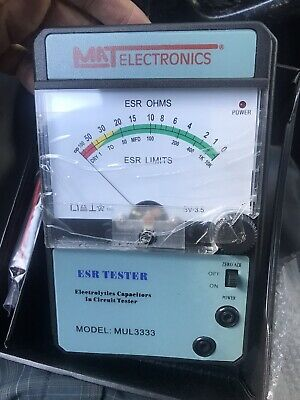 Mat Electronics Model Mul3333 Esr Tester Electrolytic Capacitor In-circuit New