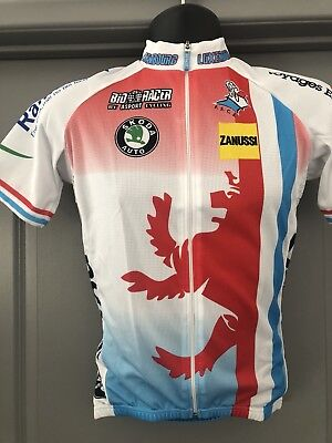 Bio Racer  Short Sleeve Jersey From Luxembourg National Cycling Team New