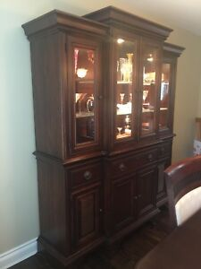 China Cabinet / Hutch / Buffet Solid Cherry Wood