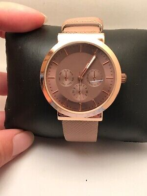 WOMEN'S ACCUTIME ANALOG FASHION WATCH DUSTY ROSE STRAP ROSE GOLD TONE WAC5218-R9