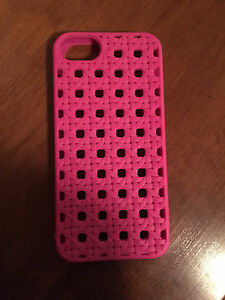 Kate Spade iPhone 5S Silicone Cover Hot Pink