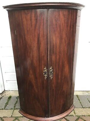 Antique Georgian Bow Front Corner Cupboard