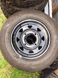 Subaru l series brumby sportswagon wheels and tyres Goonellabah Lismore Area Preview
