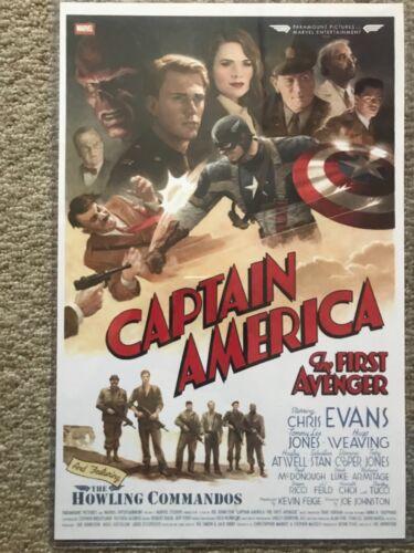 Marvel Captain America The first Avenger ~11x17 poster  repro in Toploader