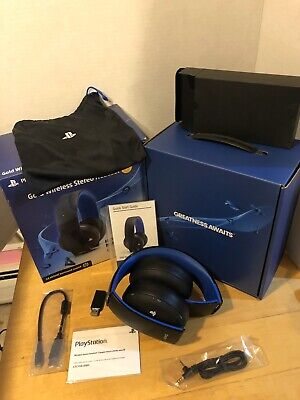 Sony PlayStation Gold Wireless Stereo Headset for PS3 PS4 PSVita Headphones