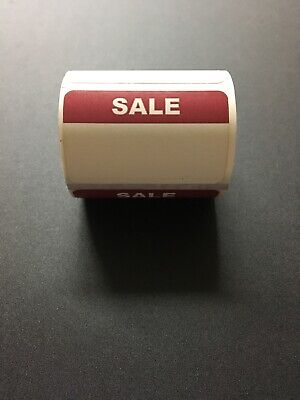 1000 Self-adhesive Sale Retail Labels 1 14 X 2 Sticker Tags