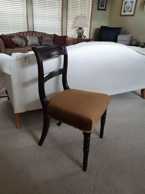 English Mahogany Regency dining chairs, set of 6, 1810-1820, beautiful