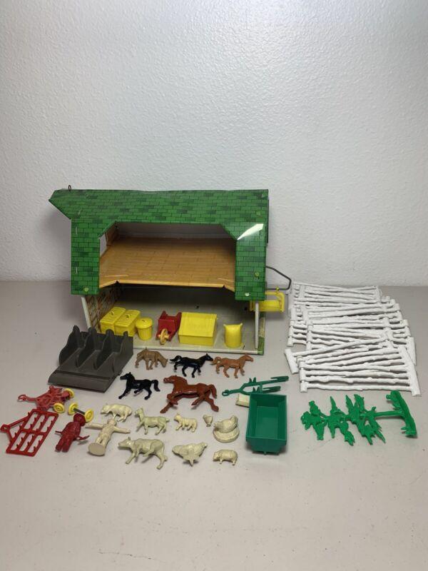Marx Lazy Day Farm tin litho toy lot Vintage