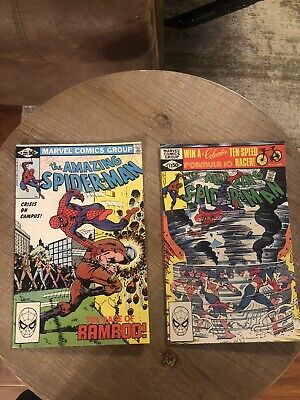 The Amazing Spider-man #221 fn/vf 7.0 #222 First Appearance of Speed Demon 7.0