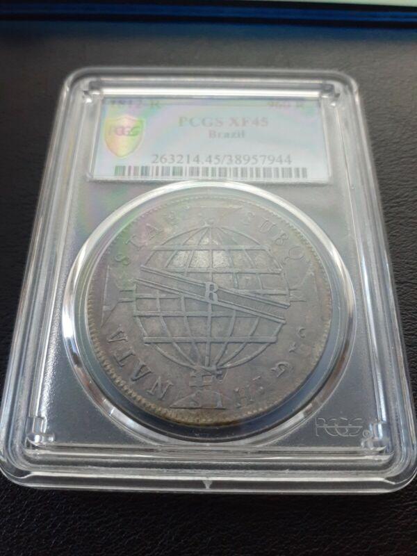 1812 R Brazil 960 Reis PCGS XF 45