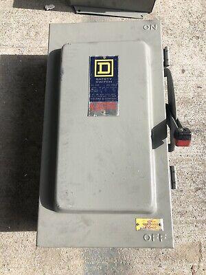 Square D Safety Switch Disconnect H363awk 100 Amp 600 Volt Fusible Nema 3r