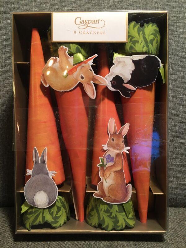 Caspari Party Crackers- Carrots & Bunnies -8 Total