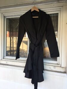 Trench noir / Black belted women's trench coat