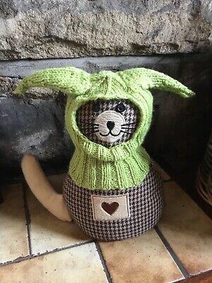 Hand Knitted Green Yoda Ear  Balaclava For Small dogs, Ideal Small Pugs Etc](Yoda Ears For Dog)