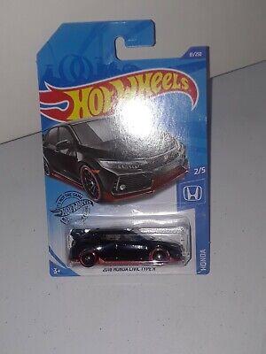 2018 Honda Civic Type R #81 * BLACK * 2020 Hot Wheels Case D  (NIP) mattel toys